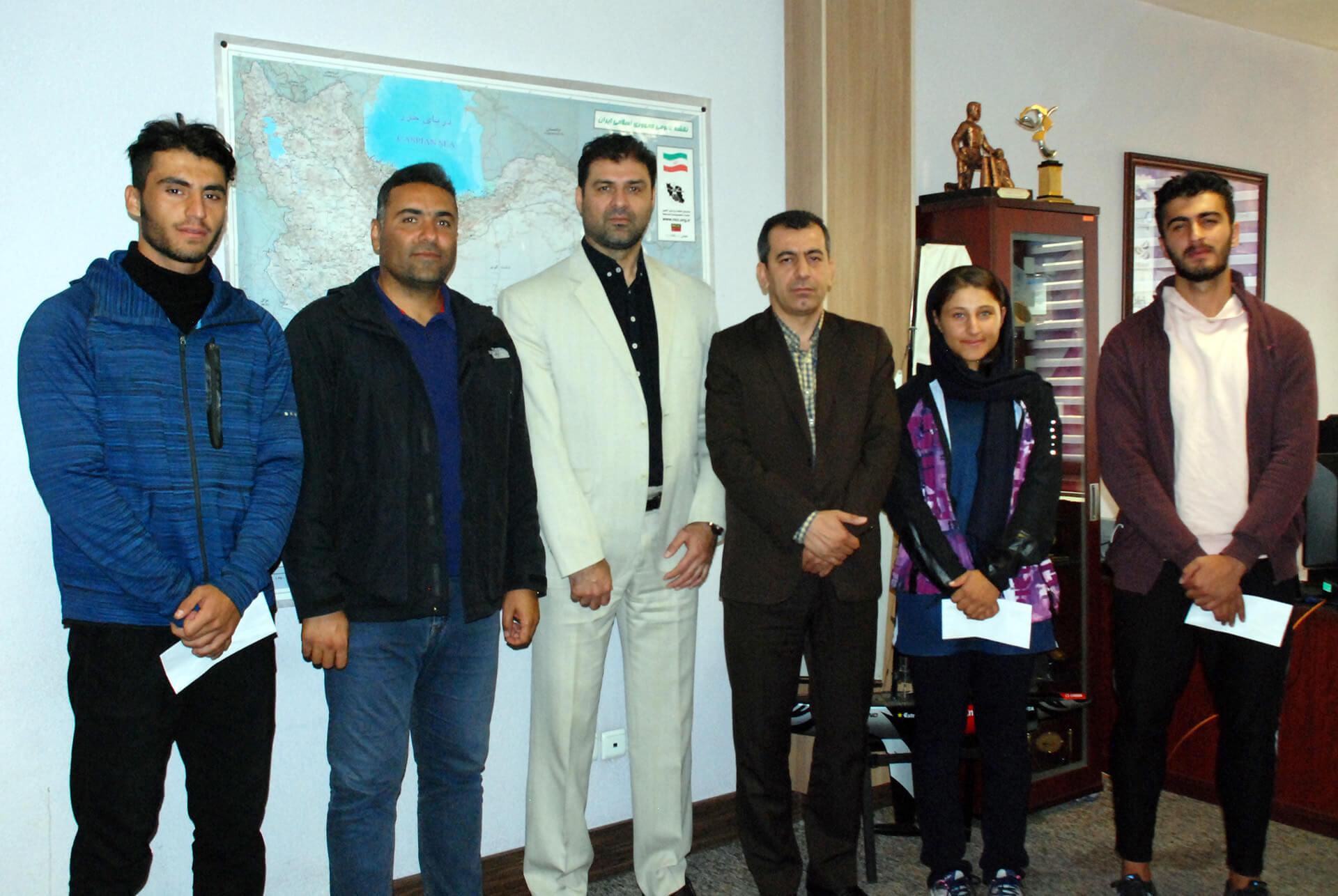 دیدار مدیر کل ورزش و جوانان کردستان با علیرضا سهرابیان