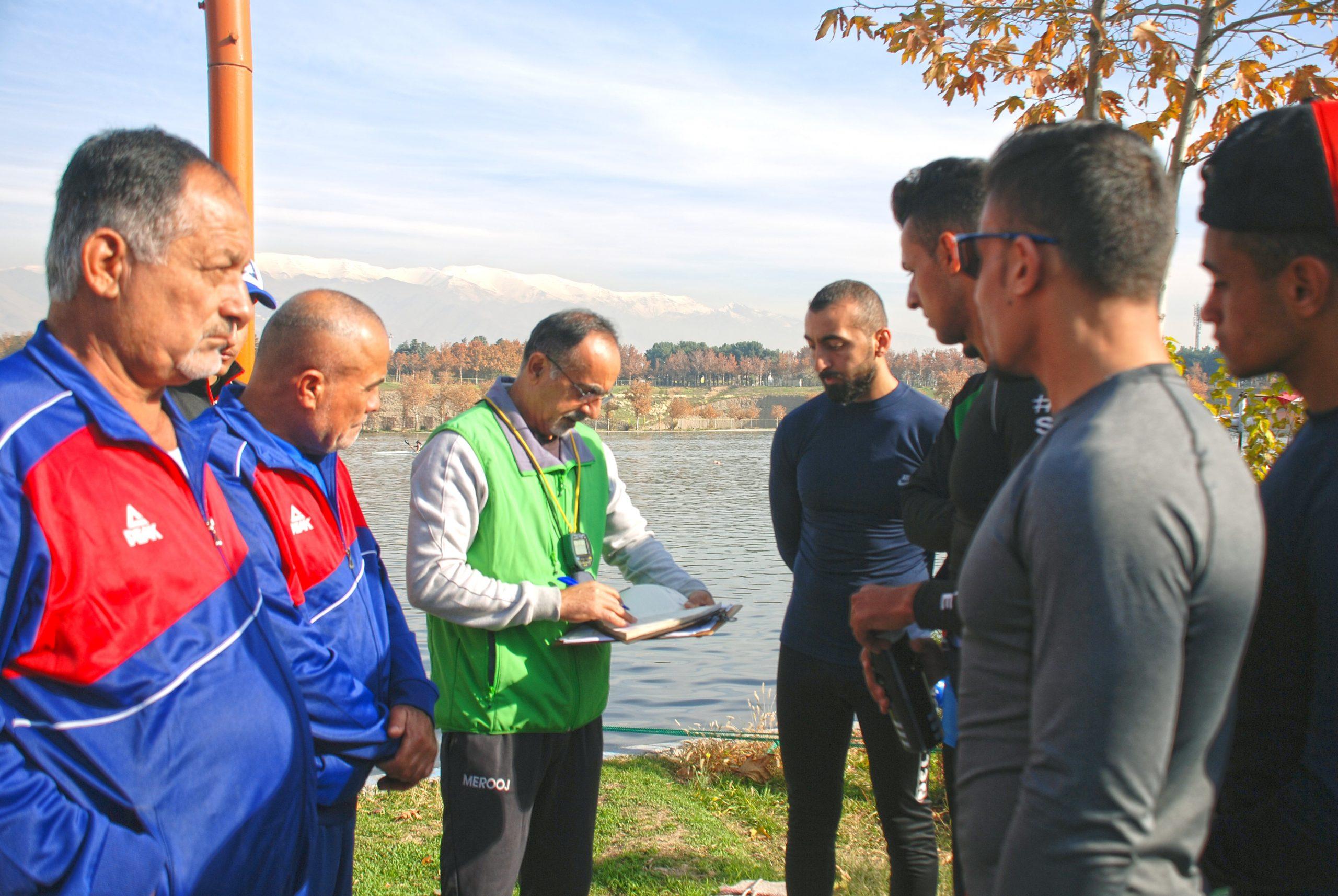 تمرینات تیم ملی آبهای آرام عراق در دریاچه آزادی