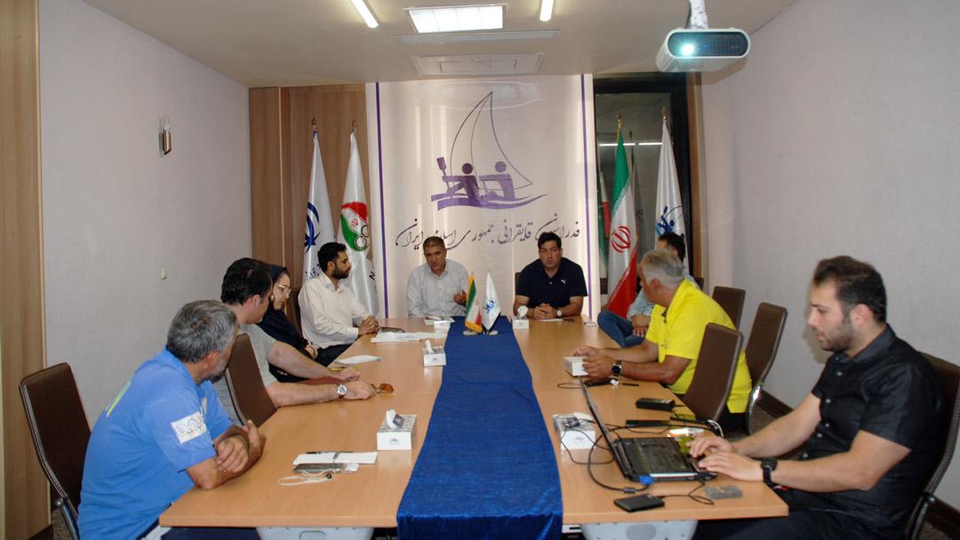 جلسه هم اندیشی برگزاری دوره های آموزش مجازی قایقرانی برگزار شد