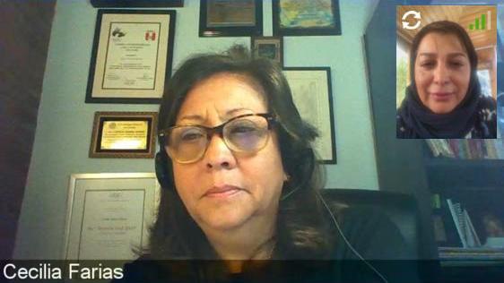 حضور کتایون اشرف در وبینار کمیسیون زنان فدراسیون جهانی قایقرانی