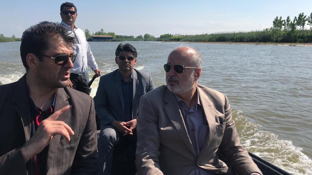 بازدید رئیس فدراسیون قایقرانی از اردوی تیم ملی در انزلی