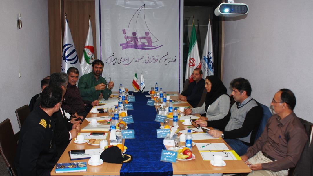 دومین جلسه هیات رئیسه فدراسیون قایقرانی برگزار شد