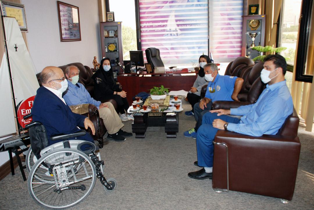 دیدار رئیس هیات ورزش های جانبازان و معلولین با رئیس فدراسیون قایقرانی