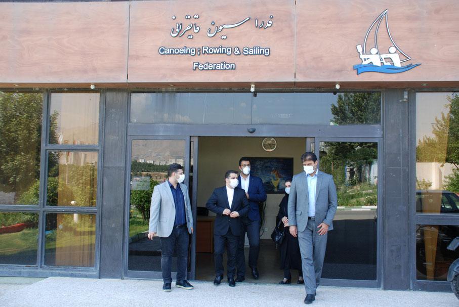 بازدید رئیس مرکز روابطعمومی وزارت ورزش از فدراسیون قایقرانی و دوره های آموزش آنلاین